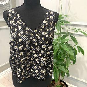Bongo Floral Crop Top. Size L